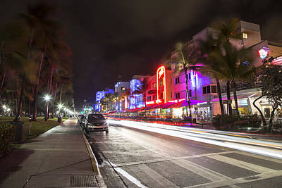 Photograph - South Beach Miami Street by John McGraw