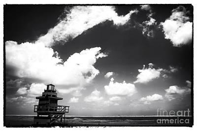 Photograph - South Beach Noir by John Rizzuto