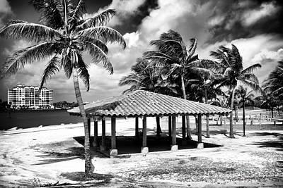 Photograph - South Beach Shade by John Rizzuto