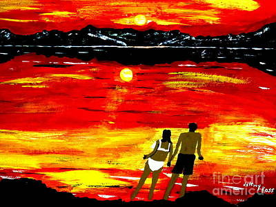 Love Painting - South Beach Sunset by Jeffrey Koss