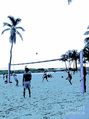 South Beach Volleyball Faded Memories Original by Diane Phelps