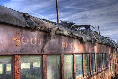 South Bend Railroad - Seen Better Days Art Print by Ed Cilley