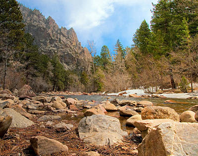 Photograph - South Boulder Creek - Eldorado Canyon State Park by Tom Potter