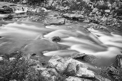 South Boulder Creek Little Waterfalls Rollinsville Bw Art Print by James BO  Insogna