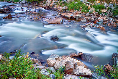 Flowing Photograph - South Boulder Creek Little Waterfalls Rollinsville by James BO  Insogna