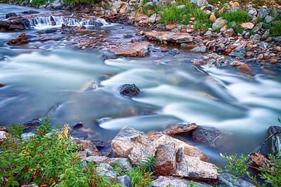 South Boulder Creek Little Waterfalls Rollinsville Art Print by James BO  Insogna