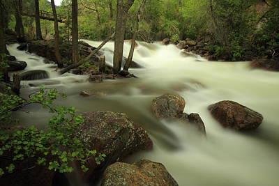 Photograph - South Boulder Creek Running High by Scott Rackers