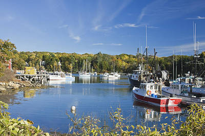 Coastal Maine Photograph - South Bristol And Fishing Boats On The Coast Of Maine by Keith Webber Jr