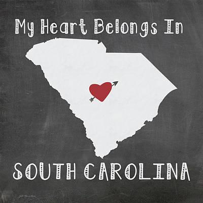 South Carolina Painting - South Carolina by Jo Moulton