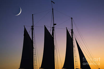 Sunset Sailing Photograph - South Carolina Schooner Sunset by Dustin K Ryan