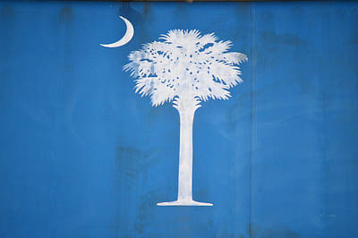Photograph - South Carolina State Flag - Palmetto Tree And Crescent by rd Erickson