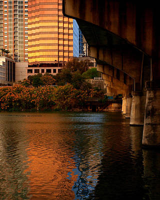 Photograph - South Congress Bridge by James Granberry