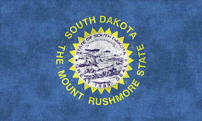 South Dakota Flag Art Print by World Art Prints And Designs