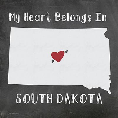 South Dakota Art Print by Jo Moulton