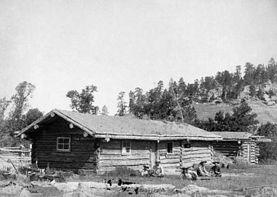 Photograph - South Dakota Log Cabin by Granger