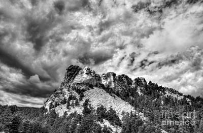 South Dakota Rocks Bw Art Print by Mel Steinhauer