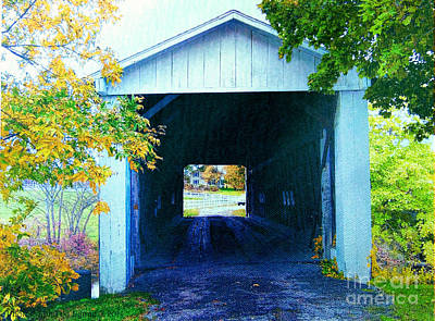 Photograph - South Denmark Rd. Covered Bridge by Gena Weiser