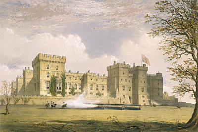 Guard Drawing - South East View Of Windsor Castle by James Baker Pyne