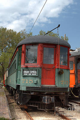 Photograph - South Elgin Trolley Museum 15 by Deborah Smolinske