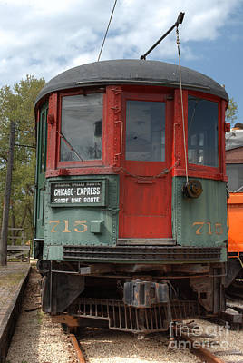 Photograph - South Elgin Trolley Museum 16 by Deborah Smolinske
