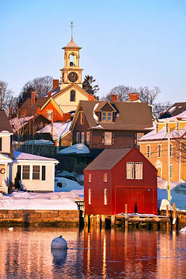 South End Boathouse Art Print by Eric Gendron