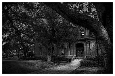 South Entry Black And White Art Print by Marvin Spates