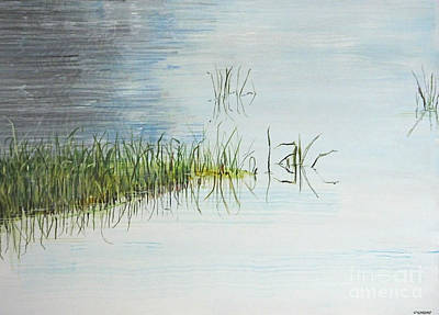 Painting - South Farm Morning Pond Louisiana by Lizi Beard-Ward