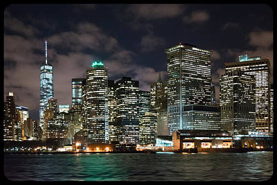 Photograph - South Ferry Manhattan At Night by Kenneth Cole