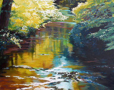 Golden Painting - South Fork Silver Creek No. 3 by Melody Cleary