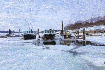 South Freeport Harbor II Art Print by Tom Singleton