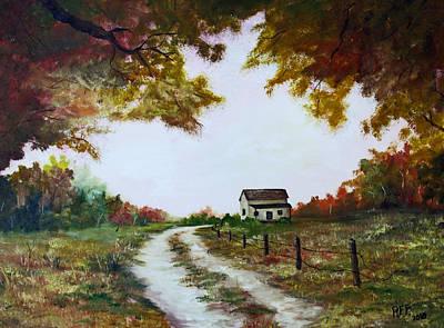 Abandoned Farm House Painting - South Georgia by Ruben  Flanagan