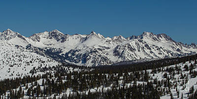 Photograph - South Gore Range  by Franz Zarda