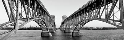 South Grand Island Bridges, New York Art Print by Panoramic Images