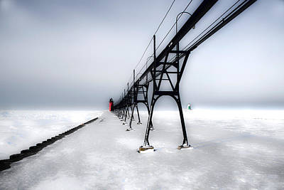 South Haven Light  Winter Original