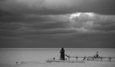 South Haven Michigan Deep Freeze Art Print by Dan Sproul