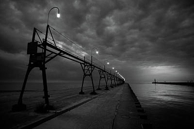 Cat Photograph - South Haven Pier by Sebastian Musial