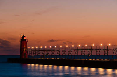 South Haven Reflection Art Print by Sebastian Musial