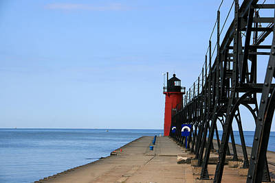 Photograph - South Haven South Pier Lighthouse by George Jones