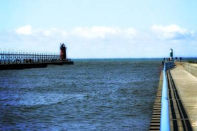 Boating Digital Art - South Haven South Pierhead Light by Michelle Calkins
