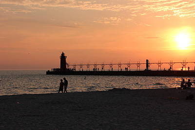 Photograph - South Haven Sunset by Bill Woodstock