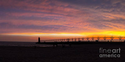 South Haven Sunset Art Print by Twenty Two North Photography