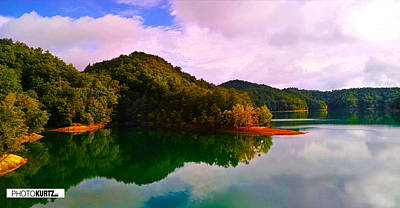 Photograph - North Holston Lake Mountains by Jeff Kurtz