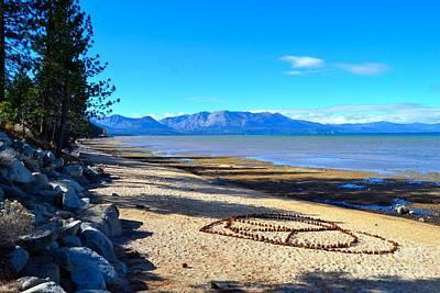 South Lake Tahoe Beach Art Print by Brandon Pineda