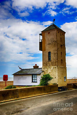 Patriotic Signs - South Lookout Tower Aldeburgh Beach by Chris Thaxter