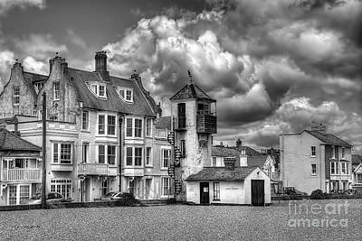 South Lookout Tower Aldeburgh Black And White Art Print