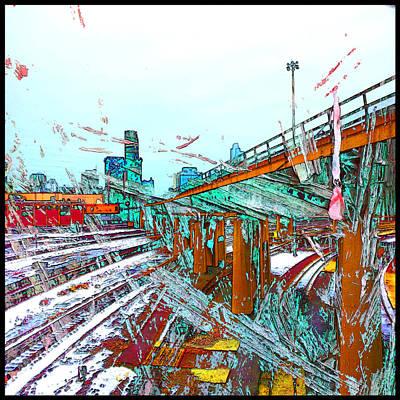 Digital Art - South Loop Rails by Zac AlleyWalker Lowing