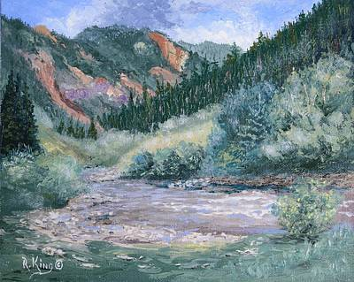 Painting - South Mineral Creek En Plein Air by Roena King