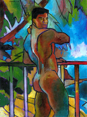 Naked Painting - South Pacific by Douglas Simonson