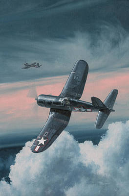 Military Aviation Art Painting - South Pacific Hot Rods by Wade Meyers