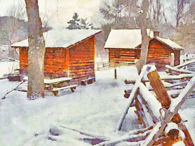 Digital Art - South Park's Oliver Miller Homestead - Outbuildings by Digital Photographic Arts
